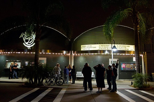 Exterior photo of the Belly Up, located at 143 S. Cedros Avenue, Solana Beach...