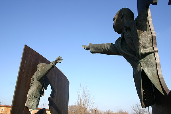 The Landmark for Peace sculpture at Dr. Martin Luther Kin...