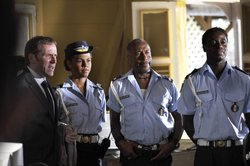 Ben Miller as DI Richard Poole, Lenora Crichlow as Lily Thomson, Danny John-Jules as Dwayne Myers and Gary Carr as Fidel Best.