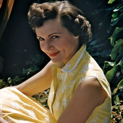 A rare 1954 color image of Betty White, who was already a beloved TV personal...