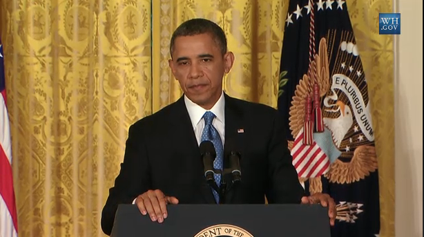 Credit: Whitehouse.gov. A screenshot from press conference, Obama addressing what immigration reform might look like.
