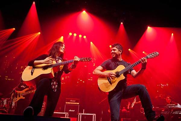 Famed Mexican guitar duo Rodrigo y Gabriela performs a unique fusion of flame...