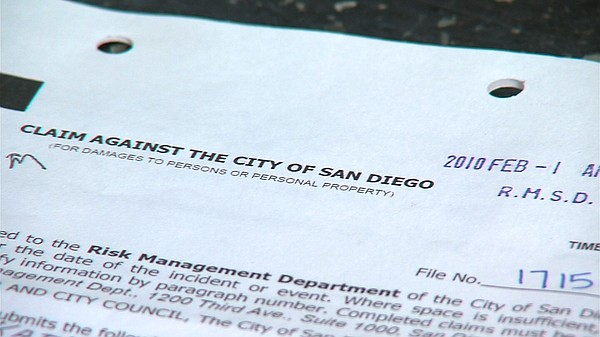 Kathy Casey's original claim against the city of San Diego for overcharging h...