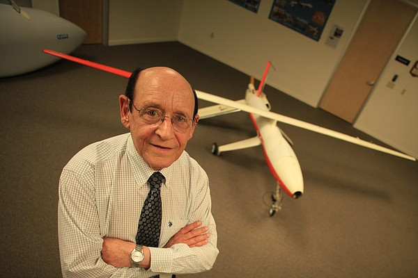 Abe Karem, the father of the Predator uav, with the Albatross, an early model...
