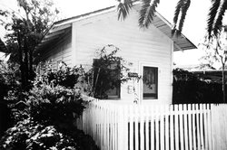"A typical house in ""the Quarters,"" an area of La Jolla where black domestic workers lived. Jackson was born in the ""the Quarters."""