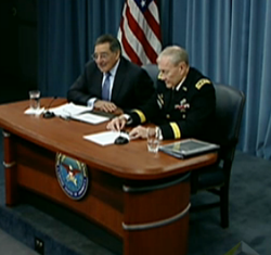 Defense Secretary Leon Panetta and Gen. Martin Dempsey at Jan. 24 news confer...