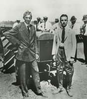 Henry Ford and Edsel Ford with Fordson Tractor, 1921.