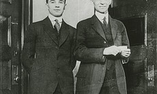Edsel Ford and Henry Ford ca. 1915.