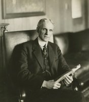 Henry Ford in his office at the Highland Park Plant, 1913.