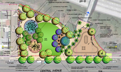 Plans for a mini-park on Central Avenue in City Heights show a skate plaza fo...