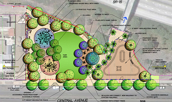 Plans for a mini-park on Central Avenue in City Heights s...