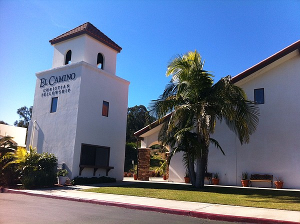 The bell tower of the El Camino Christian Fellowship in E...