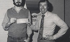 Steve Jobs and Mike Markkula, early CEO of Apple.