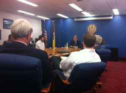 "San Diego Mayor Bob Filner meets with members of the media during a ""Pen and Paper"" session on Jan. 30, 2013."