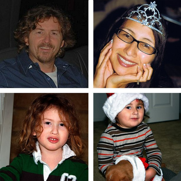 Clockwise from top left, Joseph McStay, Summer McStay, Joseph Mateo McStay an...