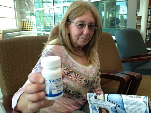 Sue Eriksen buys antibiotics without a prescription in Mexico. She's prone to bronchitis during the winter and doesn't have health insurance.
