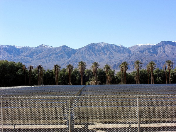 A California solar farm.