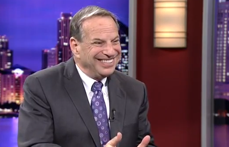 San Diego Mayor Bob Filner on the set of KPBS Evening Edition, February 2013.