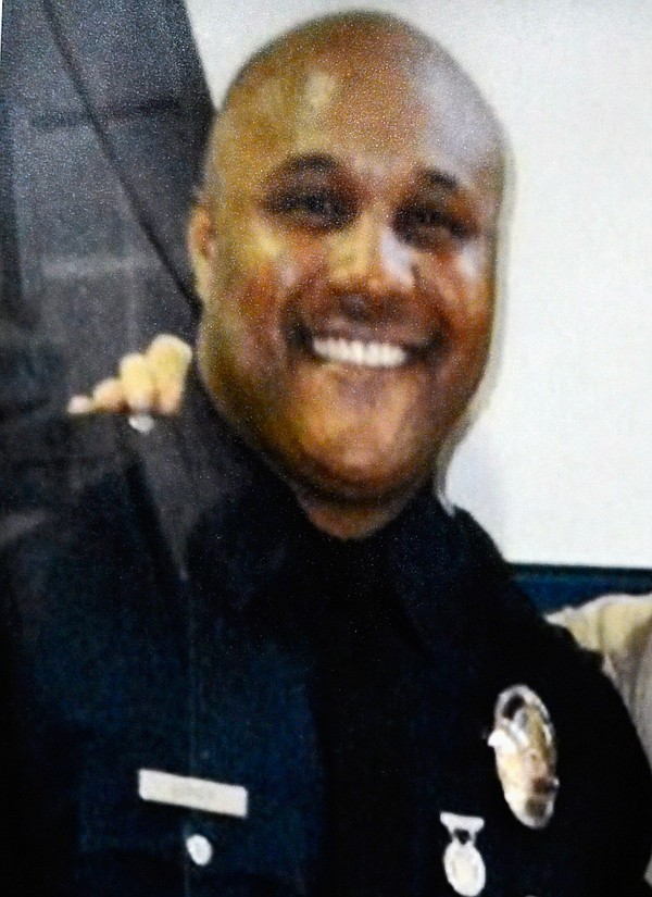 Christopher Dorner as a Los Angeles police officer.