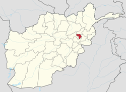 Map of Afghanistan.