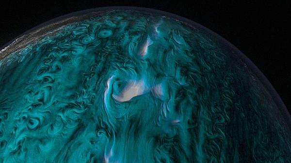 An unprecedented view of ocean currents as visualized by the NASA JPL ECCO 2 ...