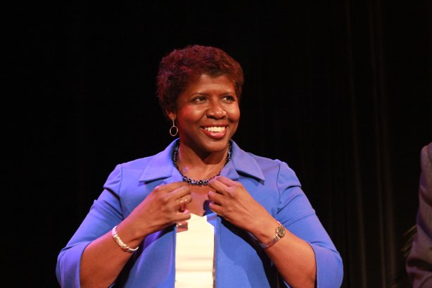 PBS NewsHour host Gwen Ifill joins KPBS Producers Club members for a reception at KPBS. Saturday, February 9, 2013