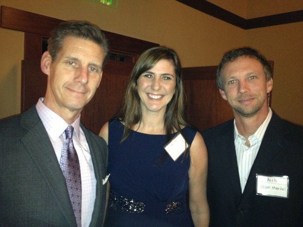 Masterplace host Kai Ryssdal with KPBS Producers Club members Amy and Jason Martel.