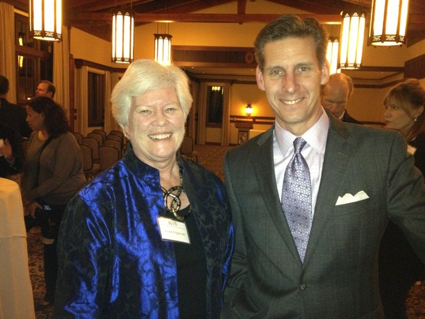 KPBS Producers Clum member Louise Engelman and Marketplace host Kai Ryssdal.