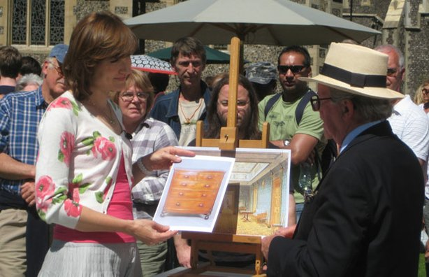 ANTIQUES ROADSHOW presenter Fiona Bruce talks to furniture specialist John Bly about his Most Seen Most Wanted items.