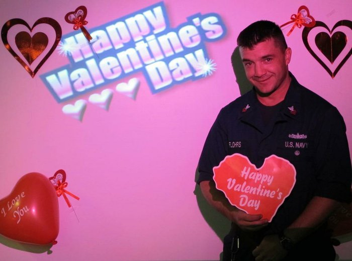 crew of uss mobile bay sends valentines day wishes home