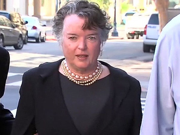 Former San Diego Mayor Maureen O'Connor appeared in federal court and entered...