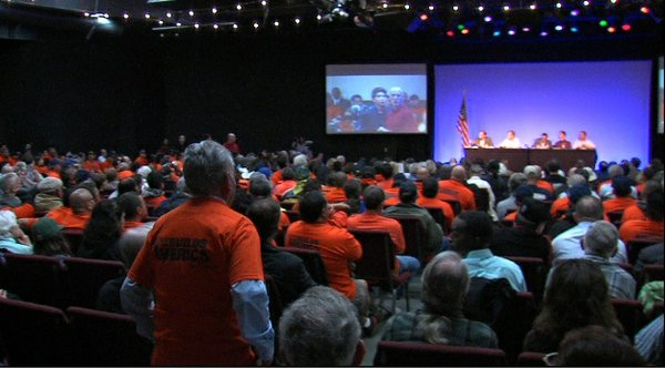Union members at the NRC public meeting on restart plan for San Onofre, Feb 1...