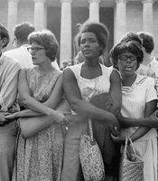 The March on Washington. Washington, D.C., August 28, 1963. The Women's Movement was influenced in part by the Civil Rights Movement.