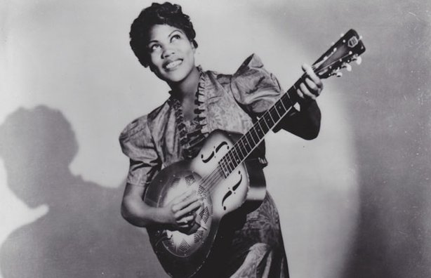 Publicity photo of Sister Rosetta Tharpe at the age of 23.