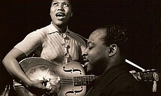 Sister Rosetta Tharpe performing in the early 1... (22930)