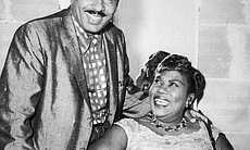 Sister Rosetta Tharpe with her third husband, and manager, Russell Morrison in the early 1950s.