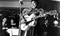 Sister Rosetta Tharpe performing in New York's Café Society in 1940.
