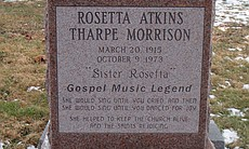 The headstone at the grave of Sister Rosetta Th... (22936)