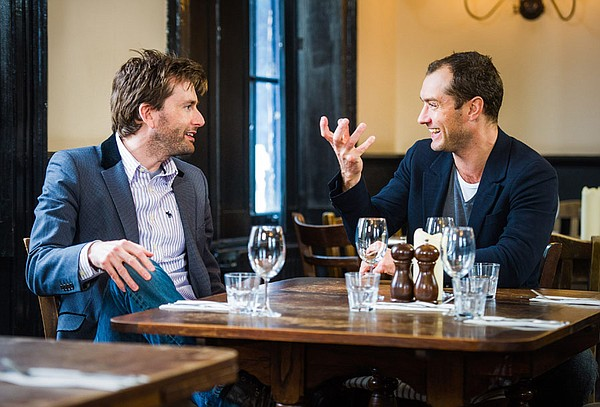 David Tennant discusses Shakespeare with Jude Law.