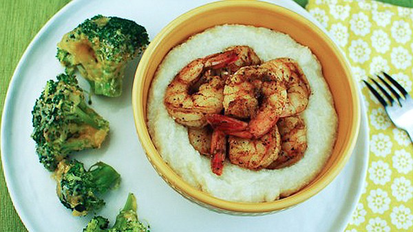 Spice-Tossed Shrimp with Parmesan Grits