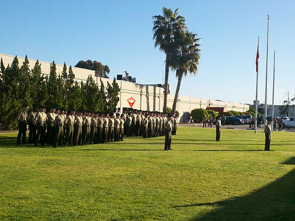 A ceremony at Marine Corps Air Station Miramar honoring t...