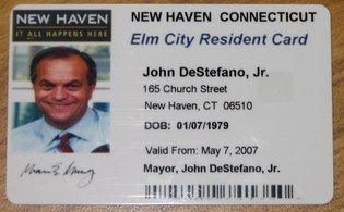 Sample of an Oakland City ID card.