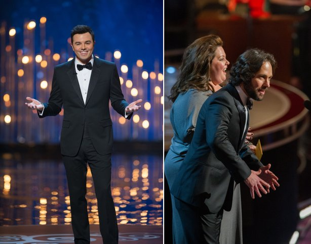 Seth MacFarlane fared fairly well as host but Melissa McCarthy and Paul Rudd bombed completely as presenters.