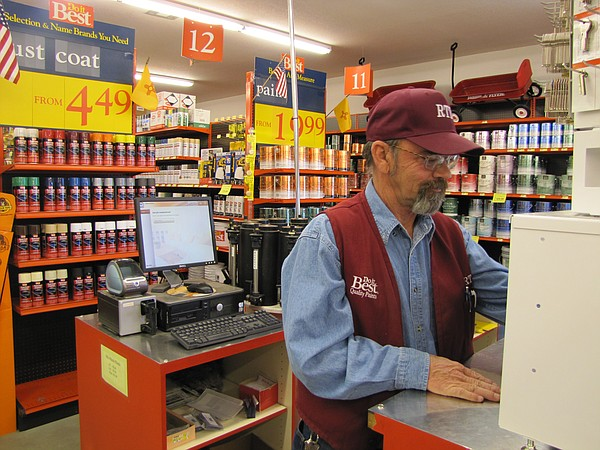 A staff member at RTD Hardware in Las Cruces.