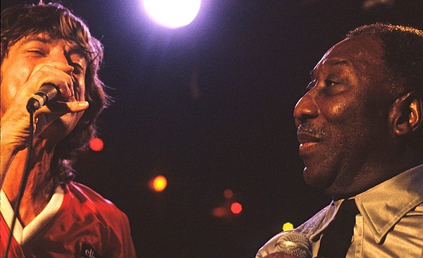 Mick Jagger and Muddy Waters perform together at Chicago's Checkerboard Loung...
