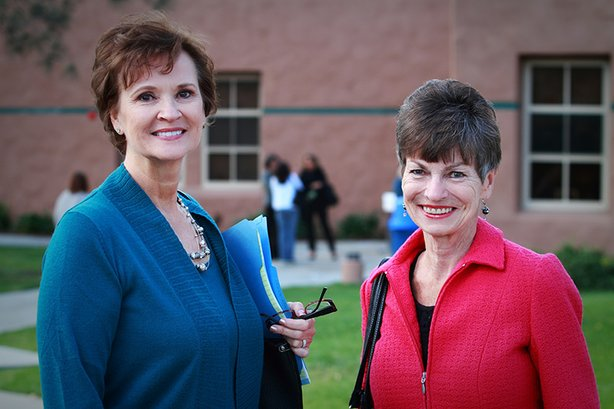 2013 Women's History Month honorees, Ginita Wall and Candace Bahr.