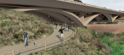 The North Coast Corridor project would create and enhance bike and pedestrian...