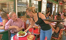 Rick Steves takes a lunch break.