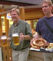 Rick Steves enjoys beer, pretzels and pork in Germany.