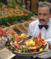 Fresh seafood in Brussels.